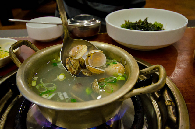 Clam Soup Similar To Clams In Ginger Broth Soup - Tinolang Halaan