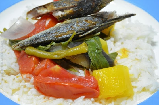 Bulanglang With Fried Fish and White Rice