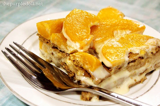Peach Mango Graham Cake Recipe