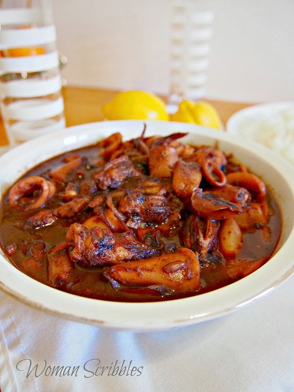 Sweet And Spicy Pusit