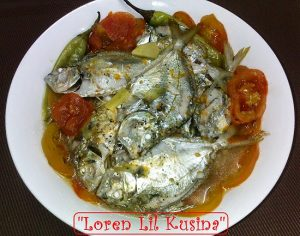 Pinangat Na Sapsap Sa Kamatis (Pony fish Poached in Tomatoes)